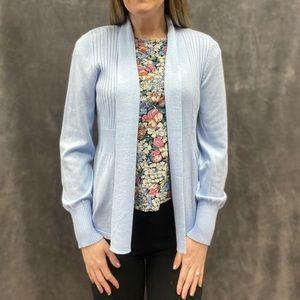August Silk cardigan sweater light blue new S M L